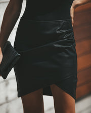 Rock + Roll Faux Leather Skirt view 3