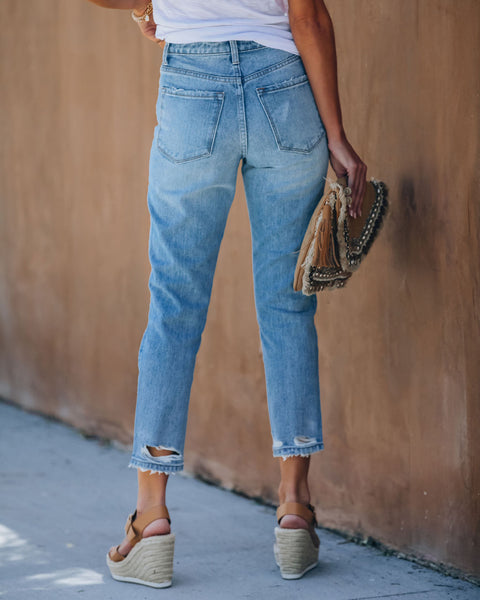 Generation High Rise Distressed Denim