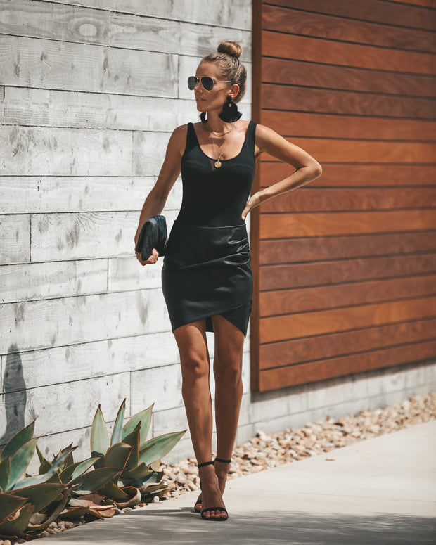 Rock + Roll Faux Leather Skirt view 7