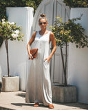 Only The Essentials Pocketed Maxi Dress - Heather Grey