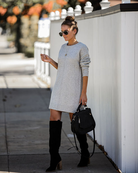 Smoky Mountain Sweater Dress - Grey - FINAL SALE