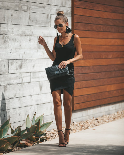 Rock + Roll Faux Leather Skirt