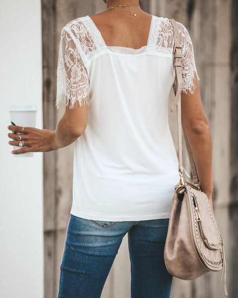 Sweet Side Lace Top - Ivory