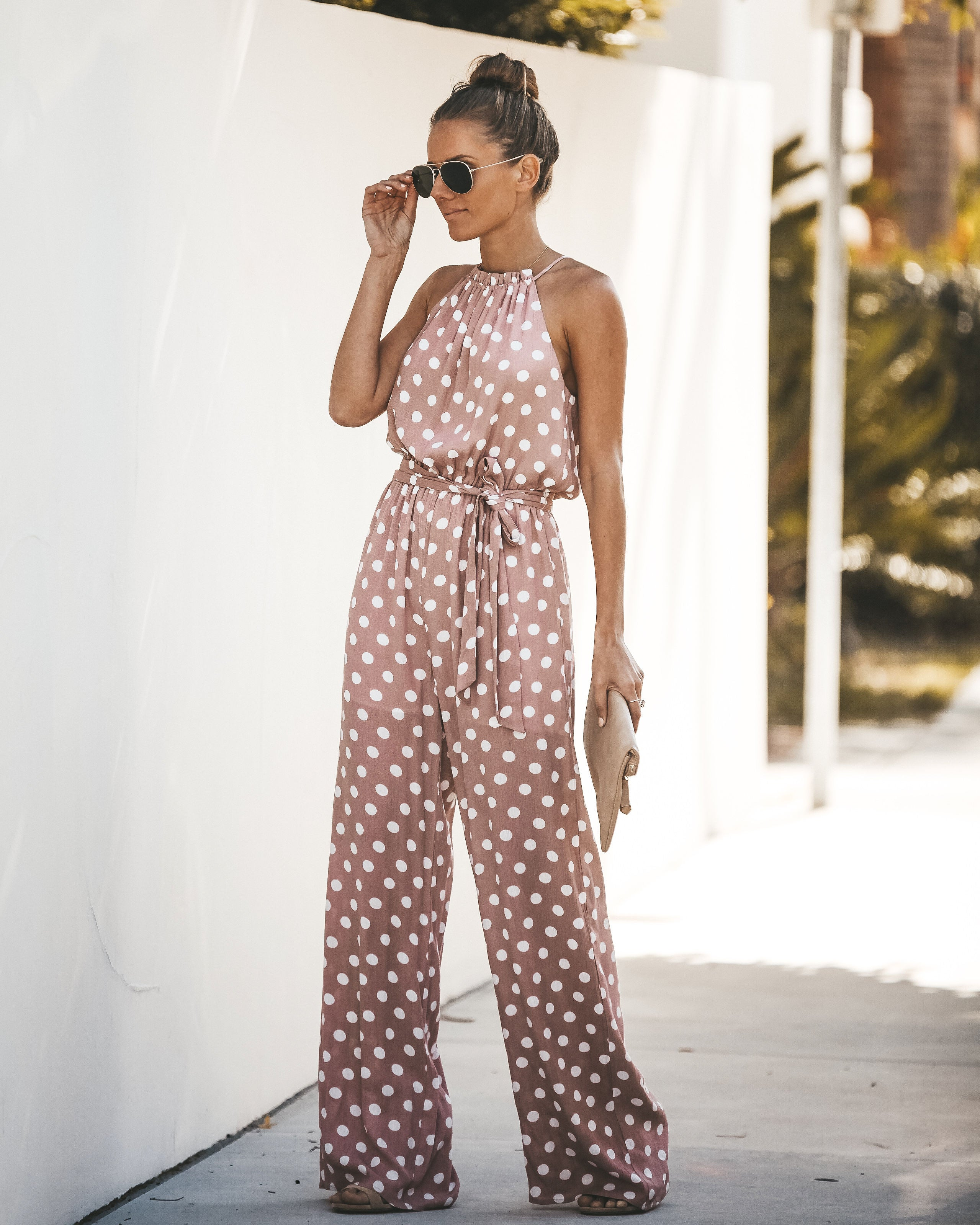 a79b499f918 Detail Product. ← Home - EXTRA SMALL - Pretty Little Polka Dot Jumpsuit