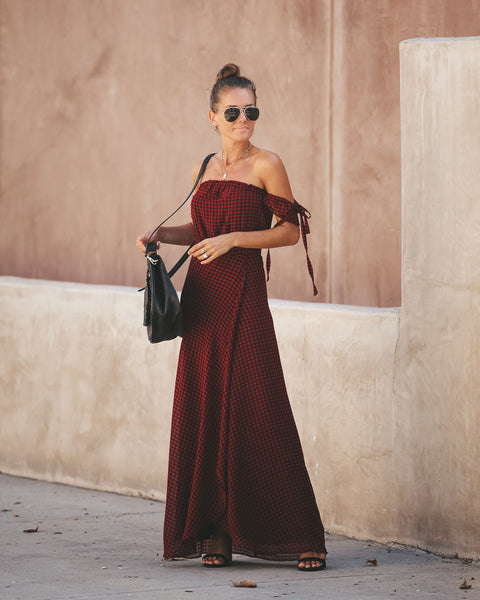 Manchester Off The Shoulder Maxi Dress - FINAL SALE