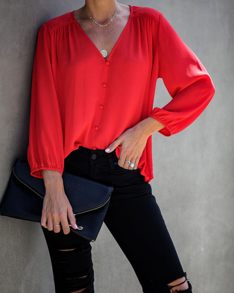 Till You Make It Blouse - Red