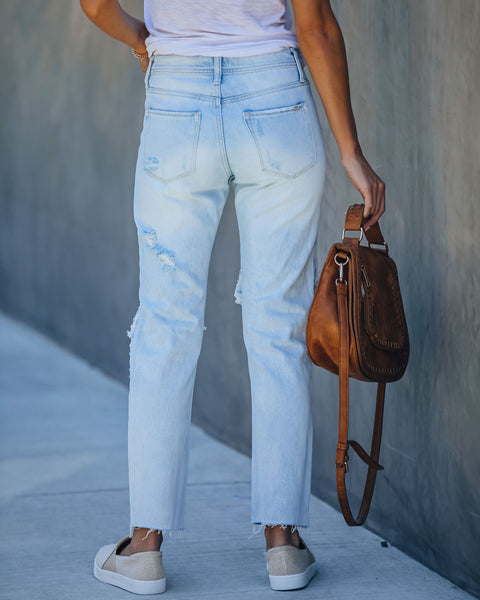 Everyday High Rise Distressed Denim