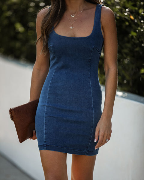 You Wish Denim Bodycon Dress