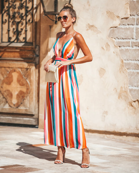 Happy Place Striped Dress