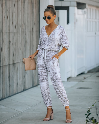 Trust In Me Pocketed Tie Dye Knit Jumpsuit