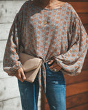 Daffodil Tie Blouse - FINAL SALE