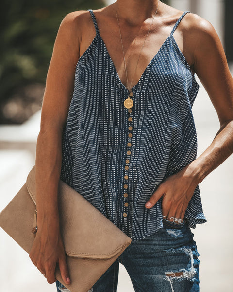 Queen Of Everything Button Down Tank