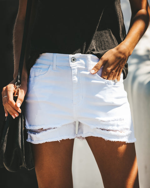 Mariner White Cut Off Denim Shorts