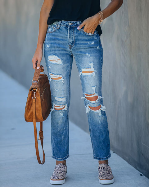 Jared High Rise Distressed Denim - FINAL SALE