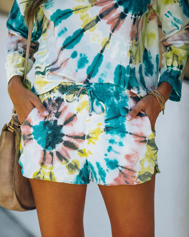 Darcie Cotton + Modal Blend Pocketed Tie Dye Shorts - FINAL SALE view 6