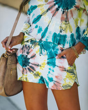 Darcie Cotton + Modal Blend Pocketed Tie Dye Shorts - FINAL SALE view 3