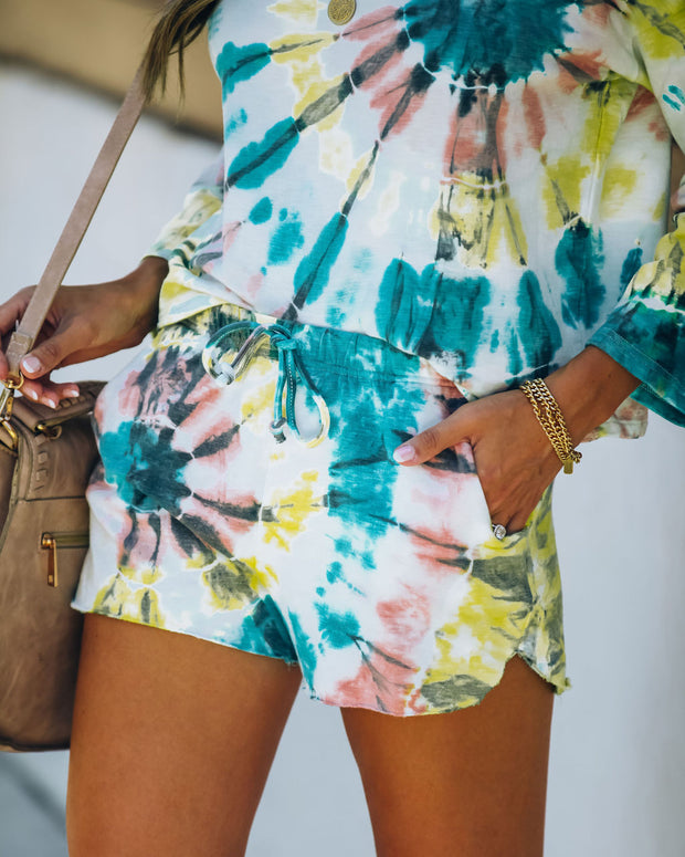Darcie Cotton + Modal Blend Pocketed Tie Dye Shorts - FINAL SALE view 9