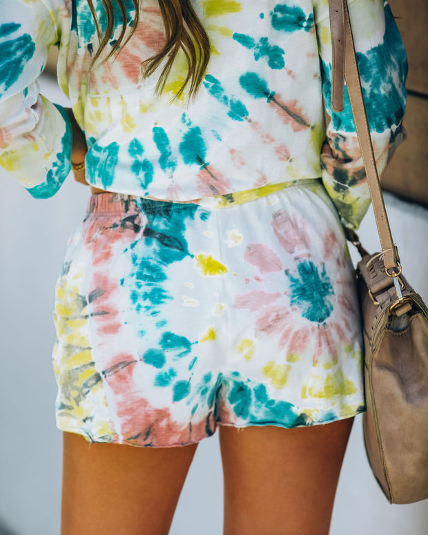 Darcie Cotton + Modal Blend Pocketed Tie Dye Shorts - FINAL SALE view 2