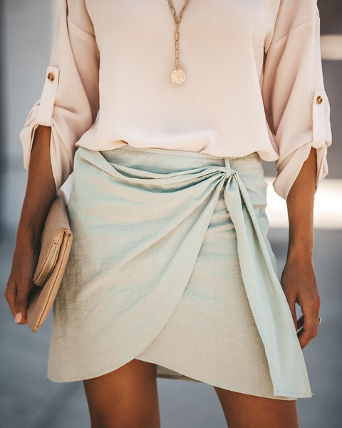 1f122139792 Mint Julep Cotton Wrap Skirt - FINAL SALE