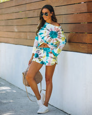 Darcie Cotton + Modal Blend Pocketed Tie Dye Shorts - FINAL SALE view 1