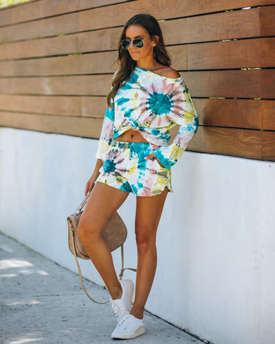 Darcie Cotton + Modal Blend Pocketed Tie Dye Shorts
