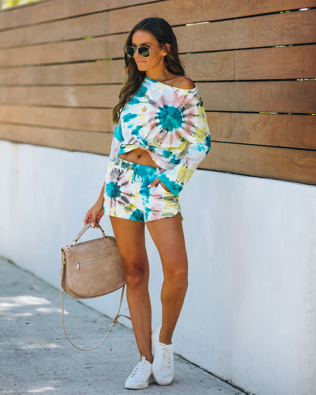 Darcie Cotton + Modal Blend Pocketed Tie Dye Shorts - FINAL SALE view 12