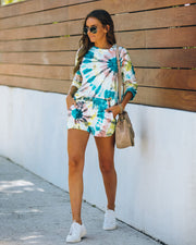 Darcie Cotton + Modal Blend Pocketed Tie Dye Shorts - FINAL SALE view 7