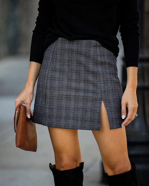 Montclair Plaid Mini Skirt