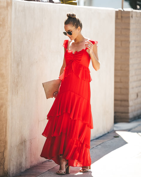 Dancing Queen Ruffle Maxi Dress