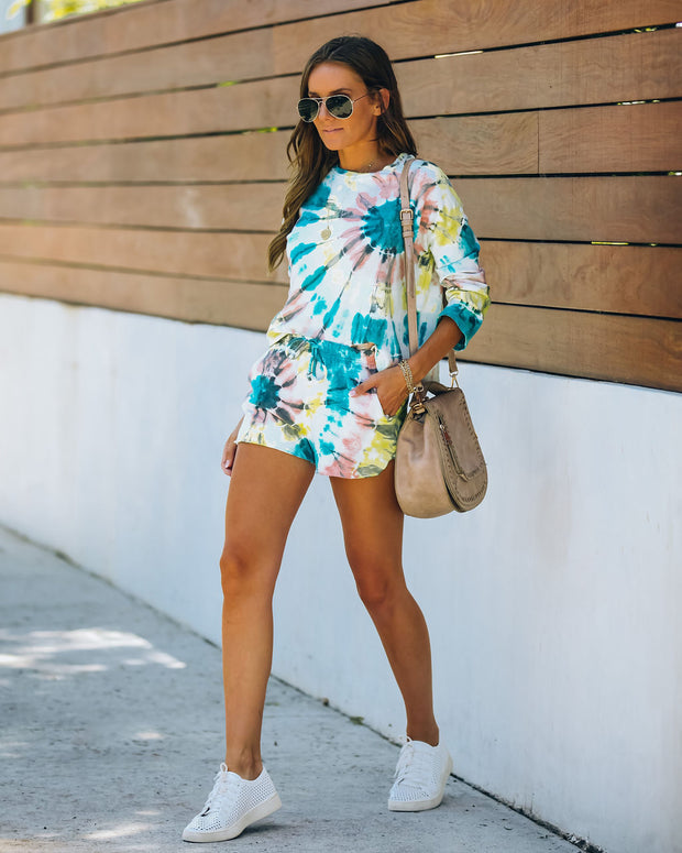 Darcie Cotton + Modal Blend Pocketed Tie Dye Shorts - FINAL SALE view 10