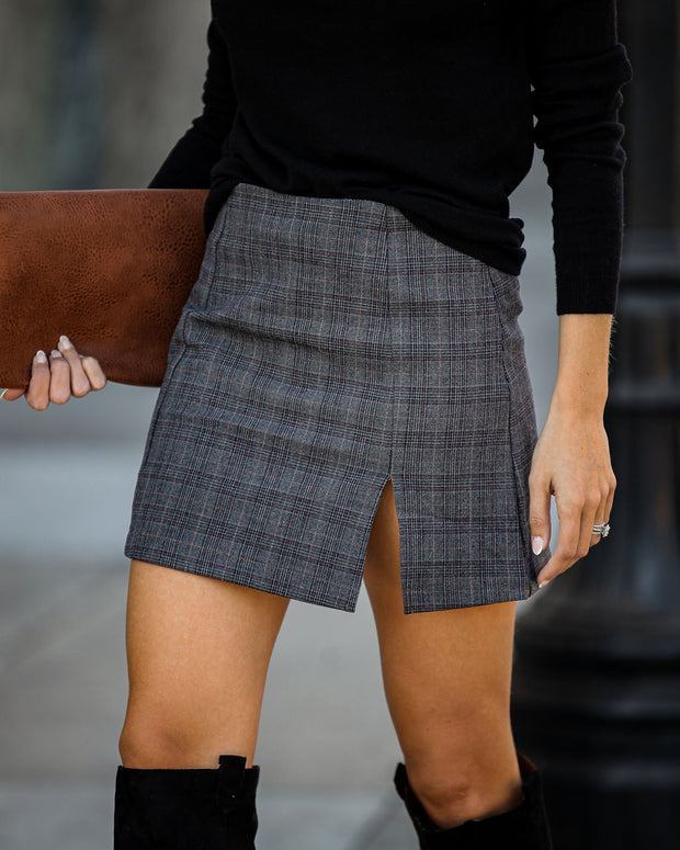 Montclair Plaid Mini Skirt - FINAL SALE