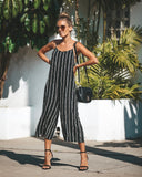 Ray Ray Striped Jumpsuit