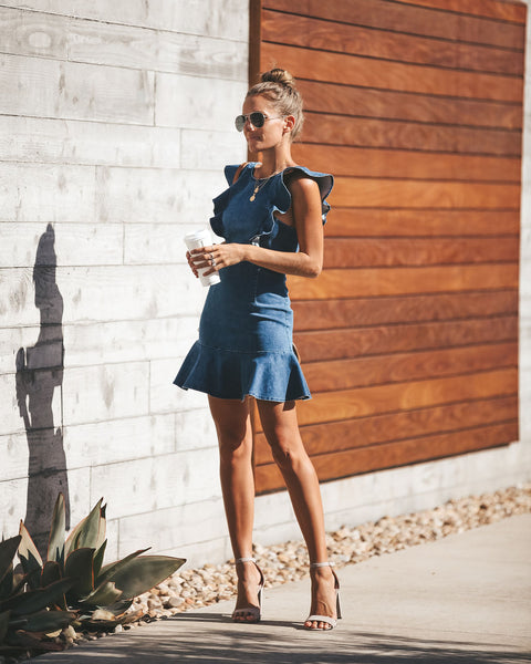 Strut Your Stuff Denim Dress