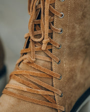 Danny Lace Up Heeled Boot - Camel view 4