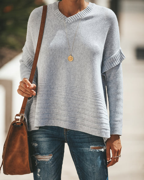 Eldridge Cashmere Blend Sweater - Grey