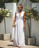 By Your Side Ruffle Maxi Dress  - Lavender