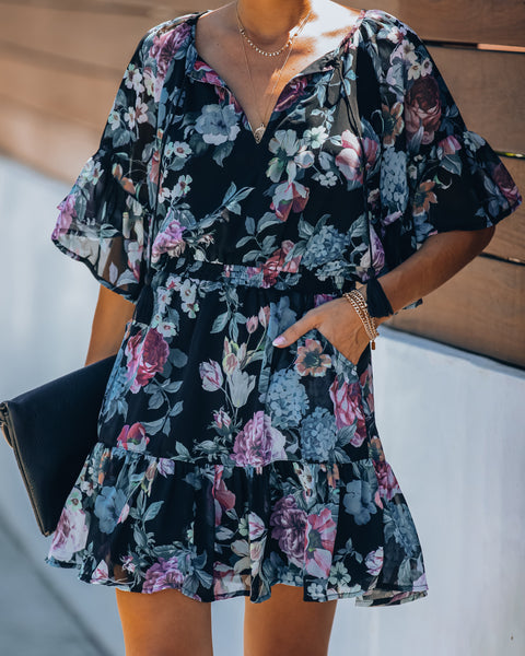 Jeremiah Pocketed Floral Dress