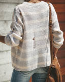 Glacier Paradise Distressed Sweater