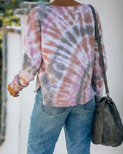 Holden Cotton Blend Tie Dye Frayed Top