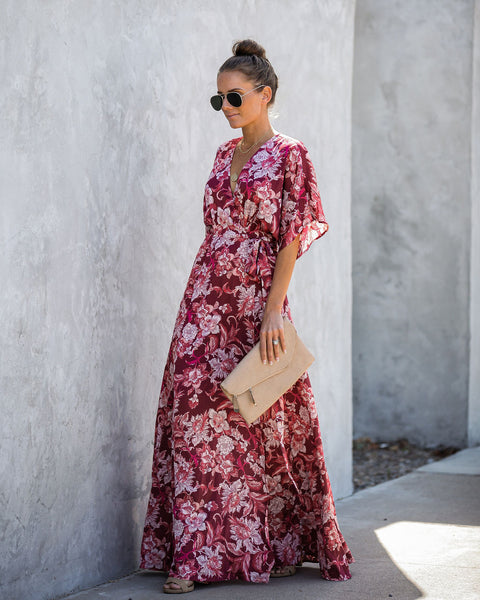 Child At Heart Wrap Kimono Maxi Dress - FINAL SALE