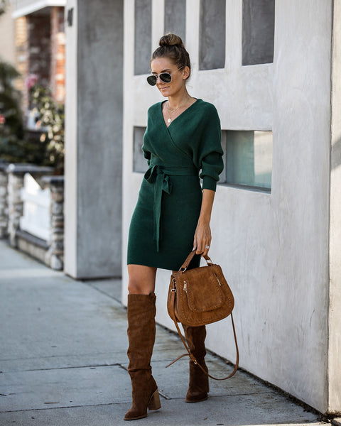 Benson Drape Sweater Dress