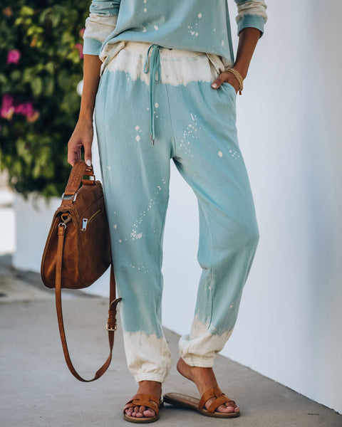 Under The Sea Cotton Pocketed Bleach Dye Joggers