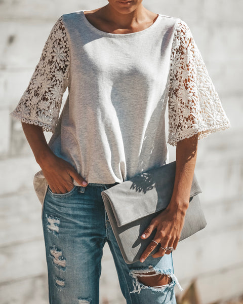 Renewal Crochet Pocketed Top