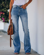 Retro High Rise Bell Bottom Denim