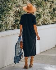 Kristie Cotton Pocketed Midi T-Shirt Dress - FINAL SALE