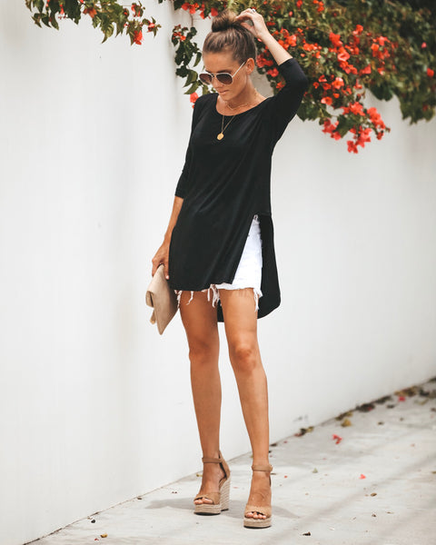 Picture Perfect High Low Top - Black