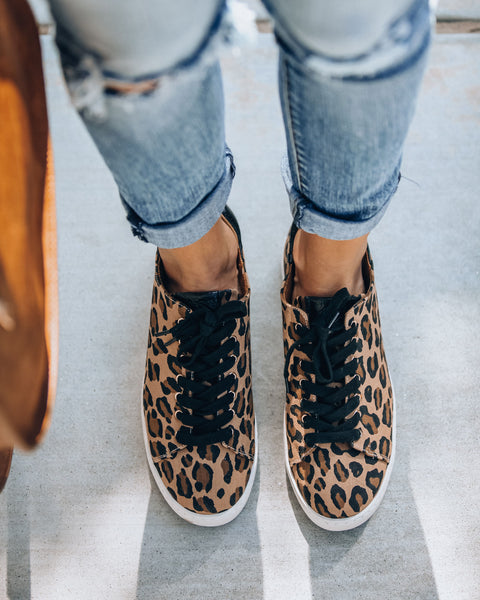 Full Speed Ahead Leopard Sneakers