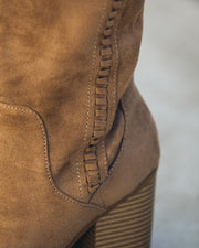 Praise Faux Suede Heeled Boot view 4