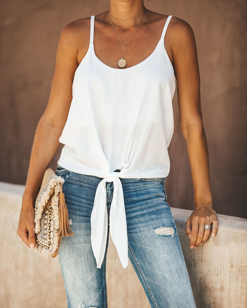Go Getter Tie Tank - Ivory- FINAL SALE