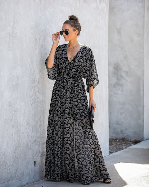 Marina Moment Printed Kimono Maxi Dress - FINAL SALE